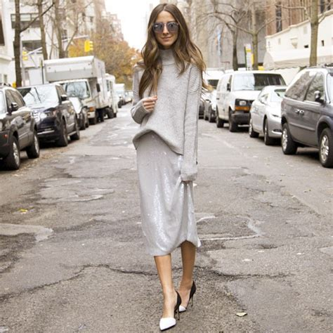 grey cotton dress paired with shiny black best 10 style ideas how to wear sweaters with midi