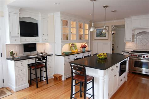white kitchen island with granite top for small spaces