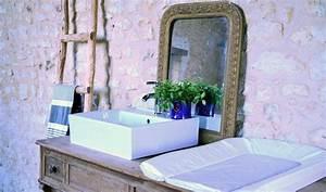 Commode Pour Salle De Bain : un meuble vasque de salle de bains familial avec table ~ Teatrodelosmanantiales.com Idées de Décoration