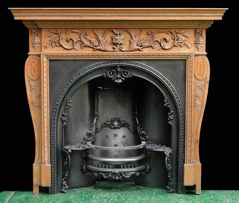 English Georgian Carved Wood Fireplace Mantel Fireplaces