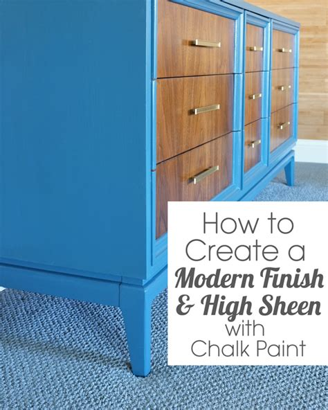How To Get A Modern Finish With Chalk Paint