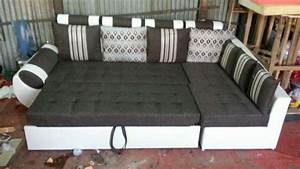 L shaped sofa set cum bed pune zamroo for Home furniture design pune