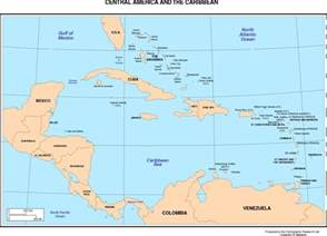 Caribbean Map with Countries and Capitals