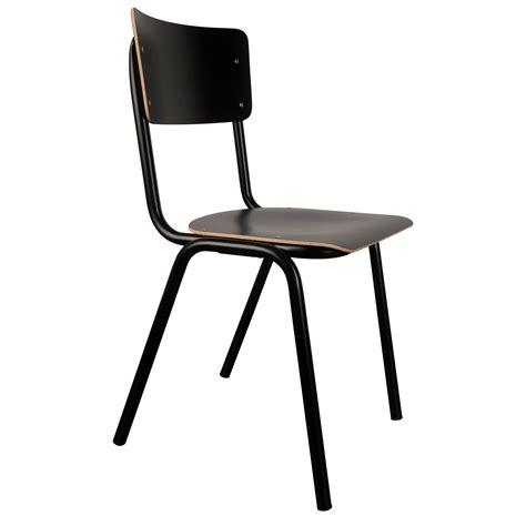 draadstaal stoel zwart oude school stoel