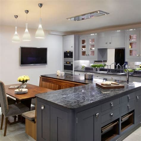 kitchen ideas uk painted family kitchen with dining nook family kitchen