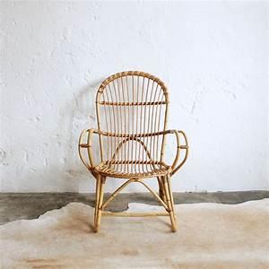 Fauteuil En Rotin : fauteuil rotin vintage ancien atelier du petit parc ~ Teatrodelosmanantiales.com Idées de Décoration
