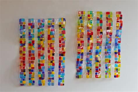 retro mesh diptych by renato foti art glass wall art artful home