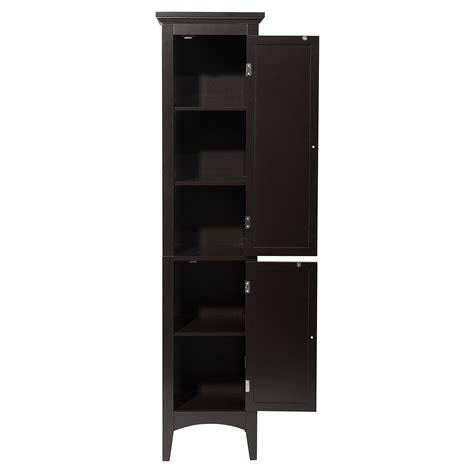bathroom storage cabinet tower toiletry linen closet shelf