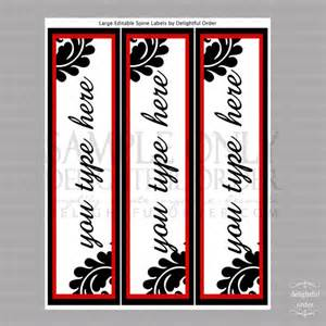 Free Printable Editable Binder Spine Labels