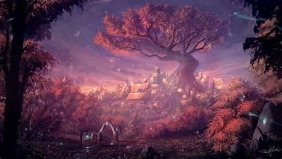 Fantasy Forest Artwork Wallpapers Artist Digital 4k