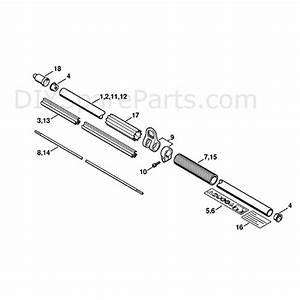 Stihl Hl 100 Long Reach Hedgetrimmer  Hl100  Parts Diagram  Drive Tube Assembly