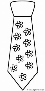 Coloring Neck Tie Father Ties Fathers Clothing Happy Template Shirt Bigactivities Printable Flowers 2009 Tie3 sketch template