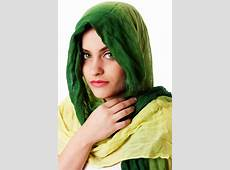 Face With Green Eyes And Scarf Stock Image Image of girl