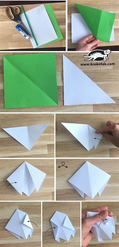 krokotak snowdrops origami