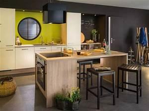 Cuisine Avec Ilot : cuisine ilot central cuisson ~ Melissatoandfro.com Idées de Décoration