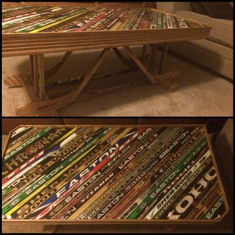 Table made from old hockey sticks | JPEGY - What the ...