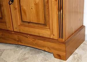Kiefer Buffet Gebraucht : buffet schrank 165x204x47cm 3 holzt ren 2 glast ren kiefer massiv goldbraun lackiert ~ Sanjose-hotels-ca.com Haus und Dekorationen
