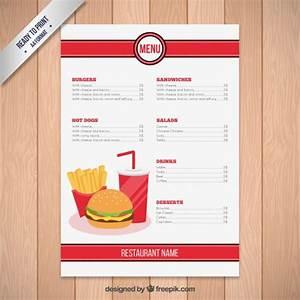 fast food restaurant menu template vector free download With resturant menu template