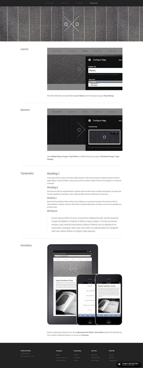 Squarespace Dovetail Template by Devlin Readme Jpg