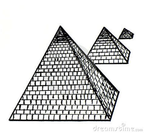Pyramid Clipart Pyramid Clipart Black And White Pencil And In Color