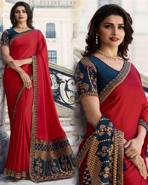 Dazzling Red Colored Prachi Desai Makhna Silk Party Wear ...