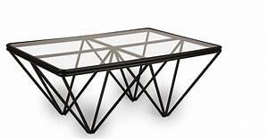 Table Basse En Verre Pas Cher : table basse en verre pied noir le bois chez vous ~ Teatrodelosmanantiales.com Idées de Décoration