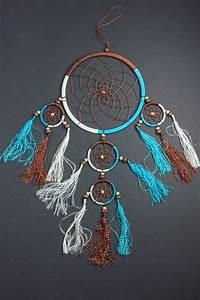 Attrape Reve Maison Du Monde : attrape r ves o 16 cm blanc bleu et marron ~ Teatrodelosmanantiales.com Idées de Décoration