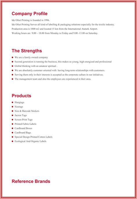 company profile free sle pertamini co