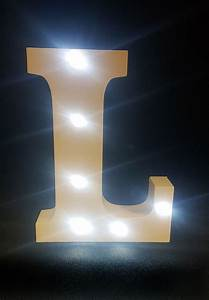 buy wooden led light up letter white l from chair cover With led light up letters