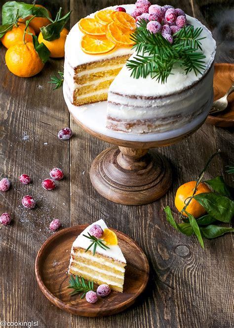 tangerine layer cake  tangerine curd  cream cheese