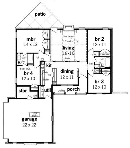 house plan   traditional plan  square feet  bedrooms  bathrooms floor