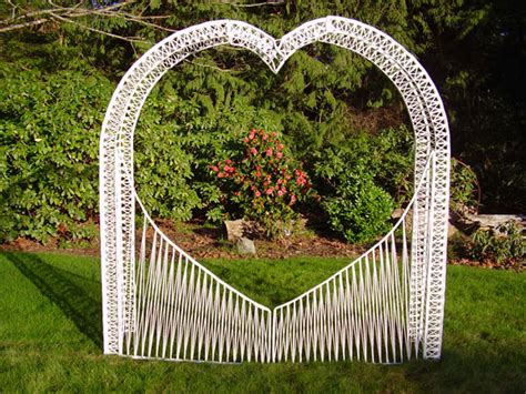 Rent A White Wicker Heart Arch For Your Wedding At All