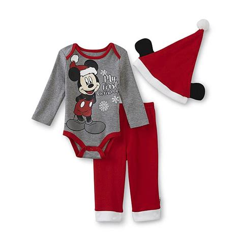 Disney Mickey Mouse Newborn Boyu0026#39;s Outfit - My First Christmas