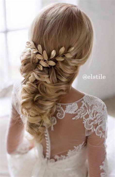 bridal wedding hairstyles  long hair