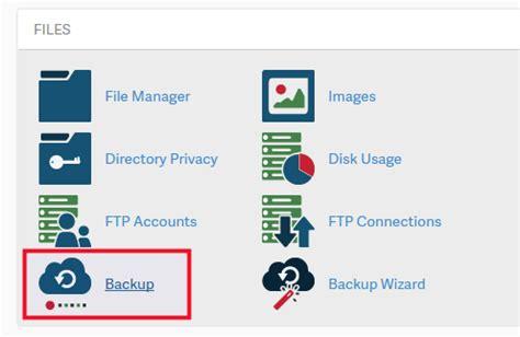 perform  full backup  cpanel inmotion hosting