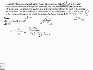 Molare Enthalpie Berechnen : molar enthalpy sample problem 1 youtube ~ Themetempest.com Abrechnung