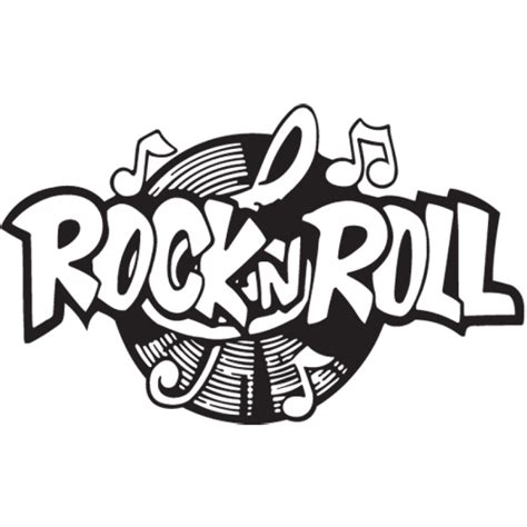 """rocknroll"" Decal Sticker Rocknrolla"