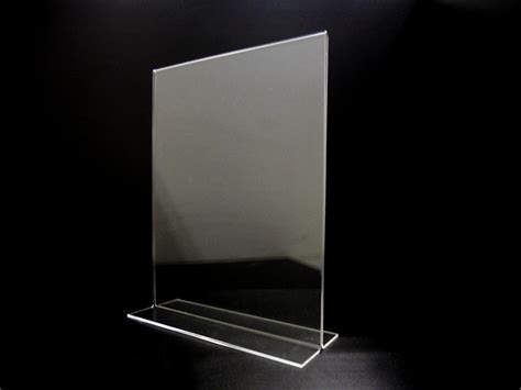 8 5 x 11 acrylic sign holder for table tops acrylic bottom loading display sign holder 8 5 quot x 11 quot