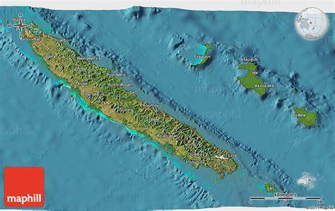 satellite  map   caledonia
