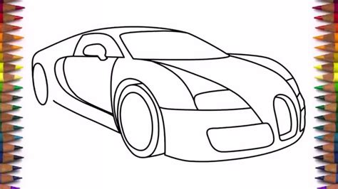 1024x576 sketch of a bugatti chiron super sport by golferpat. How to draw a car Bugatti Veyron 2011 drawing - YouTube