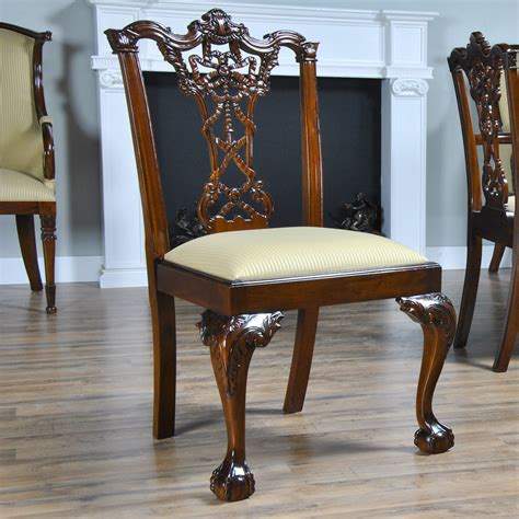 home furniture dining room chairs carved mahogany