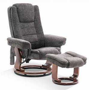 Mcombo, Recliner, Chair, With, Ottoman, Fabric, Accent, Chair, With, Vibration, Massage, Swivel, Chair
