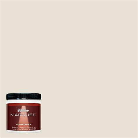 behr marquee 8 oz 73 off white matte interior exterior paint and primer in one sle mq30016