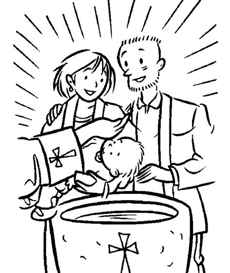 baptism coloring pages sacrament of baptism coloring page baptism religious