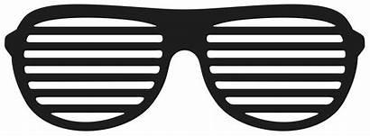 Sunglasses Glasses Clipart Shutter Shades Transparent Clip