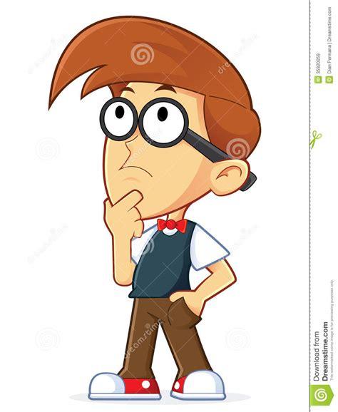 animated student thinking thinking royalty free stock images image 35920059