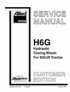 John Deere Allied Winch H6g Hydraulic Towing Winch 850jr