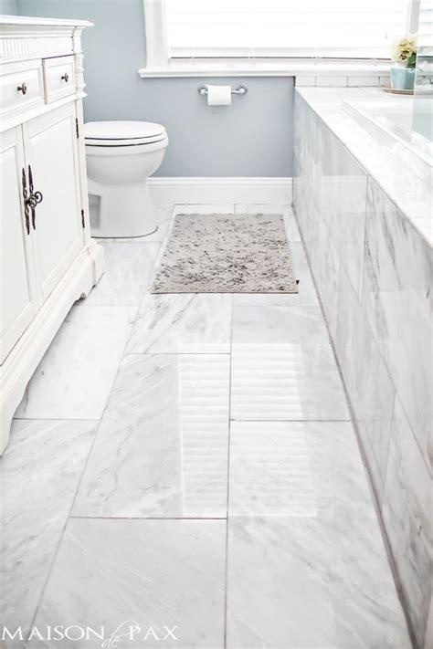 tips  designing  small bathroom deco marble