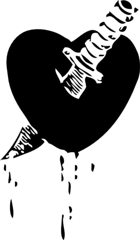 Knife Through The Heart Clip Art at Clker.com - vector