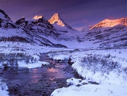 Winter Wallpapers Desktop Snow Scenes Mountain Christmas
